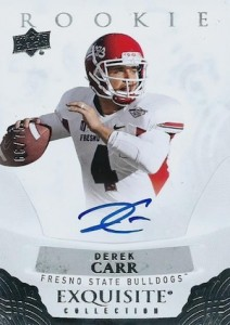 Derek Carr Rookie Card Gallery and Checklist 39