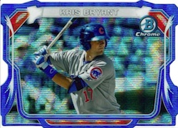 2014 Bowman Chrome Baseball Mini Chrome Die-Cut Blue Wave Kris Bryant