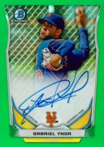 2014 Bowman Chrome Baseball Prospect Autographs Green Refractor
