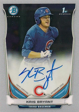 Does the 2014 Bowman Chrome Kris Bryant Autograph Set a Dangerous Precedent? 1