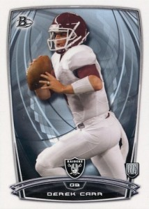 Derek Carr Rookie Card Gallery and Checklist 19