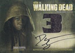 2014 Cryptozoic Walking Dead Season 3 Part 2 Autographed Wardrobe AM8