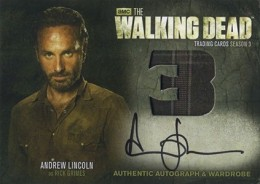 2014 Cryptozoic Walking Dead Season 3 Part 2 Autographed Wardrobe AM9 Andrew Lincoln