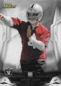 Derek Carr Rookie Card Gallery and Checklist 22