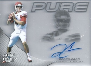 Derek Carr Rookie Card Gallery and Checklist 45