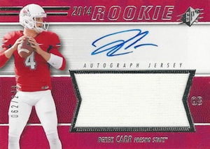 Derek Carr Rookie Card Gallery and Checklist 48