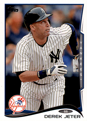 Derek Jeter Topps Cards Through the Years 22