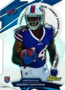 2014 Topps Finest Football Finest Atomic Rookie Refractor Sammy Watkins