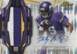 2014 Topps Finest Football Rookie Refractor Autographed Pulsar Patch Bridgewater
