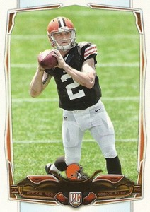 2014 Topps Football Johnny Manziel No Name on Front