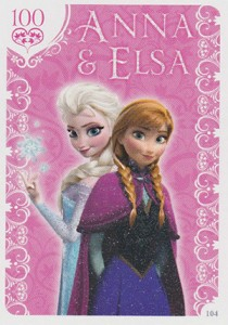 2014 Topps Frozen Activity Cards Glitter Cards
