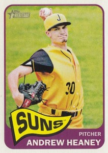 2014 Topps Heritage Minor League Baseball Base Andrew Heaney 140