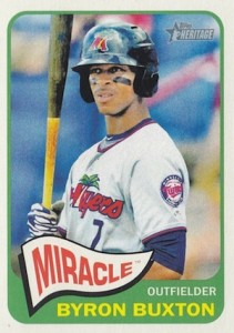 2014 Topps Heritage Minor League Baseball Base Byron Buxton 10