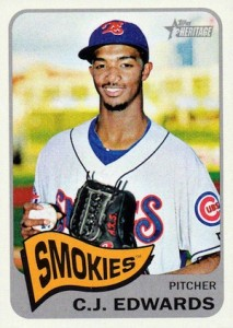 2014 Topps Heritage Minor League Baseball Base C.J. Edwards 190
