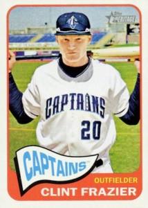 2014 Topps Heritage Minor League Baseball Base Clint Frazier 90