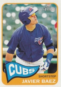 2014 Topps Heritage Minor League Baseball Base Javier Baez 36