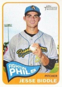 2014 Topps Heritage Minor League Baseball Base Jesse Biddle 193