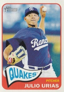 2014 Topps Heritage Minor League Baseball Base Julio Urias 55
