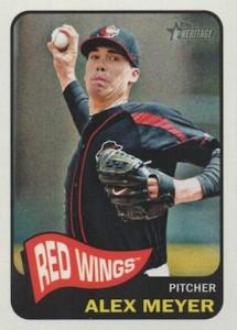 2014 Topps Heritage Minor League Baseball Base Variation Alex Meyer 130