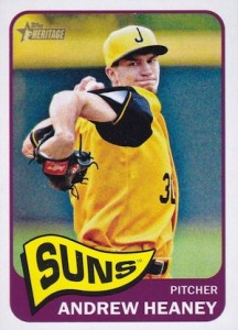 2014 Topps Heritage Minor League Baseball Base Variation Andrew Heaney 140