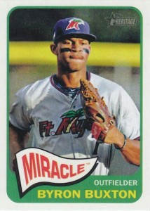 2014 Topps Heritage Minor League Baseball Base Variation Byron Buxton 10