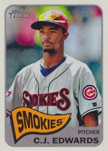 2014 Topps Heritage Minor League Baseball Base Variation C.J. Edwards 190