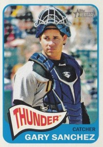 2014 Topps Heritage Minor League Baseball Base Variation Gary Sanchez 9