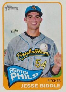 2014 Topps Heritage Minor League Baseball Base Variation Jesse Biddle 193