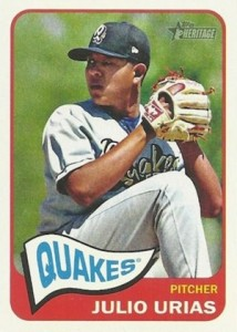 2014 Topps Heritage Minor League Baseball Base Variation Julio Urias 55