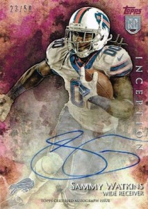 2014 Topps Inception Sammy Watkins RC Autograph