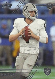 Derek Carr Rookie Card Gallery and Checklist 28