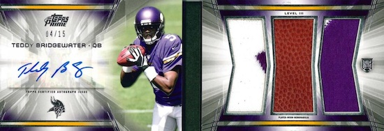 2014 Topps Prime Football Cards 25