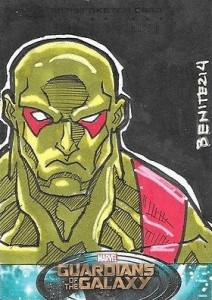 2014 Upper Deck Guardians of the Galaxy Character Sketch