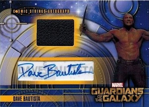 2014 Upper Deck Guardians of the Galaxy Cosmic Strings Autographs Memorabilia Dave Bautista