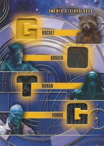 2014 Upper Deck Guardians of the Galaxy Cosmic Strings Quad Relic