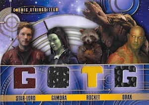 2014 Upper Deck Guardians of the Galaxy Cosmic Strings Team Relic