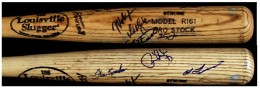 Angels Team Signed bat