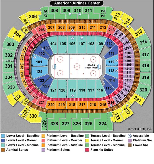 Mavericks Arena Seating Chart Allen Americans At Kansas City