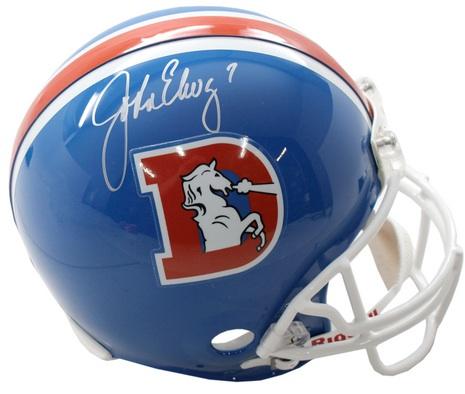 Denver Broncos John Elway Signed Helmet