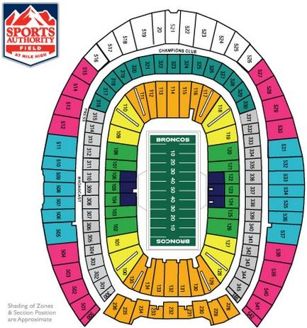 denver bronco stadium seating chart   Bare.bearsbackyard.co