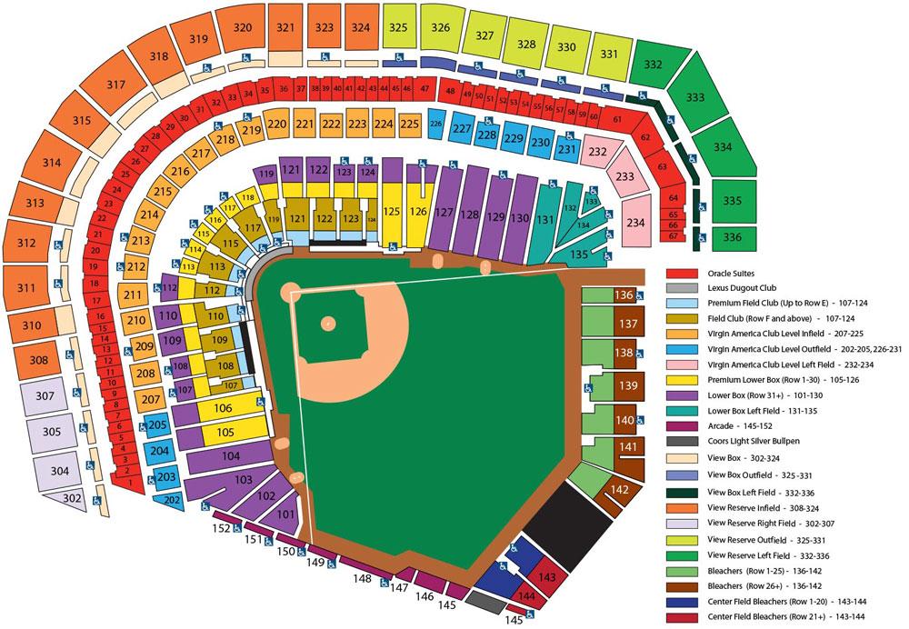 Giants Seating Chart