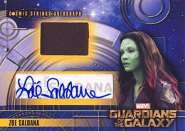 Guardians of the Galaxy Cosmic Strings Autographs Zoe Saldana