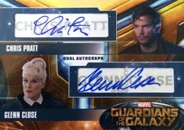 Guardians of the Galaxy Dual Autograph Pratt Close