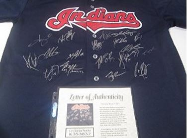 Indians Team Signed Jersey