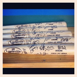 Kansas City Royals team Signed Bat