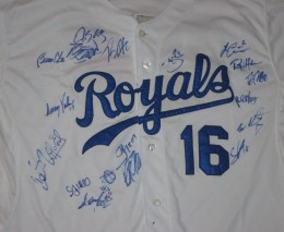 Kansas City Royals team Signed Jersey