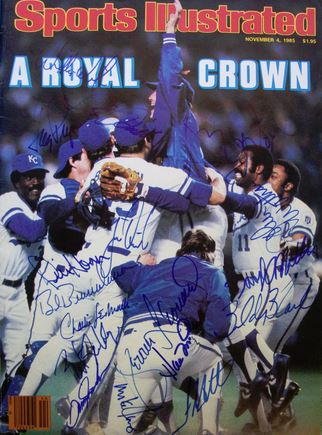 Kansas City Royals team Signed Photo