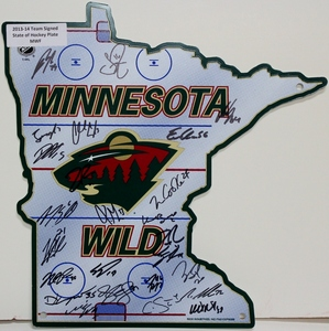 Minnesota Wild Team Signed Photo