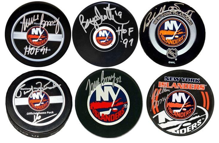 NY Islanders Team Signed Pucks