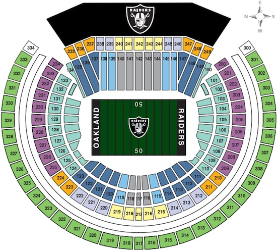 Oakland Raiders Coliseum Seating Chart